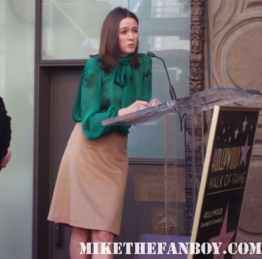 john lasseter walk of fame star ceremony emily mortimer giving her speech on hollywood blvd. don rickles doing a stand up routine