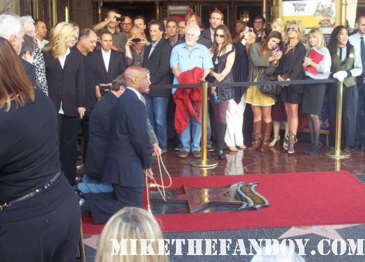 john lasseter walk of fame star ceremony John Ratzenberger giving her speech on hollywood blvd. don rickles doing a stand up routine