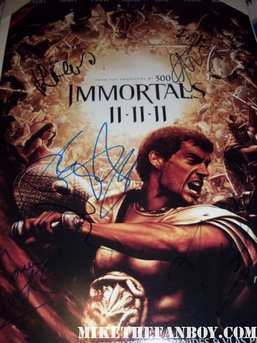 the immortals hand signed autograph poster henry cavill sexy hot rare signing autographs at the immortals world movie premiere The Immortals World Movie Premiere red carpet! With Henry Cavill! Luke Evans! Stephen Dorff! Kellan Lutz! Mickey Rourke! Cory Servier! Isabel Lucas! Autographs! Photos and More!