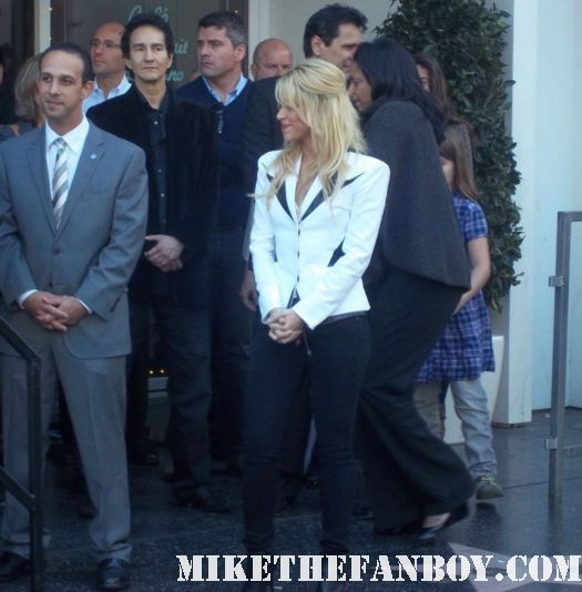 shakira arriving to her walk of fame star ceremony on hollywood blvd. shakira's walk of fame star ceremony on hollywood blvd rare hot sexy shakira promo rare signed autograph