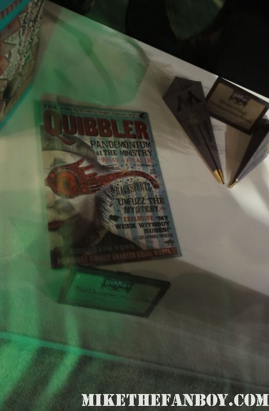 harry potter prop and costume display rare promo rare daily prophet newspaper harry potter and the deathly hallows daniel radcliffe quibbler