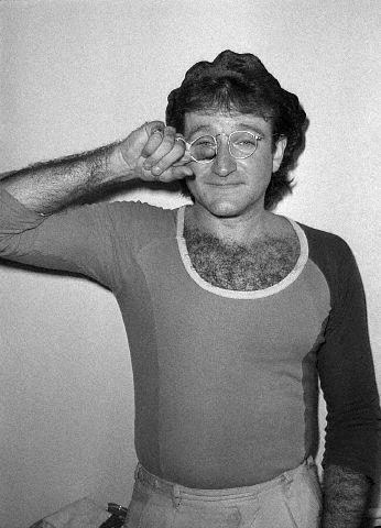 """Robin Williams In """"Mork And Mindy"""" Days rare promo press still photo mork from ork hot rare chest hair"""