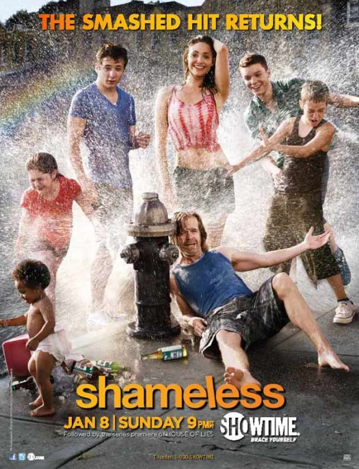 shameless season 2 rare promo poster art william h macy rare hot sexy wet showtime promo season 2 tease