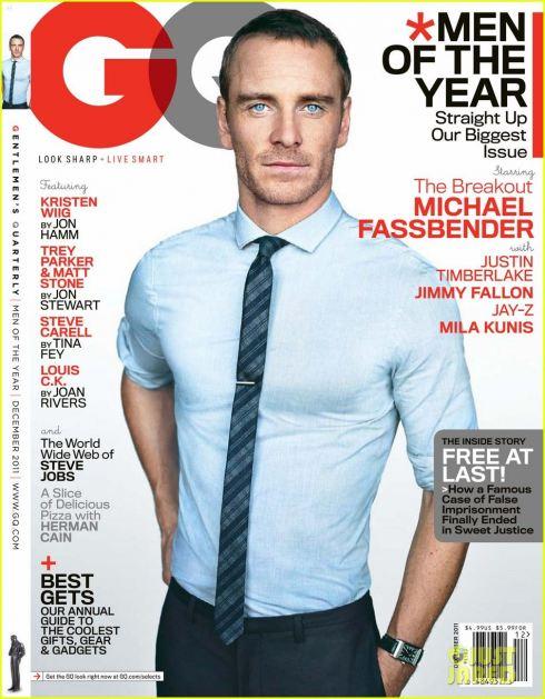gq-us-dec-2011-michael-fassbender hot sexy magazine cover rare x men first class jane eyre rare promo sexy hot rare