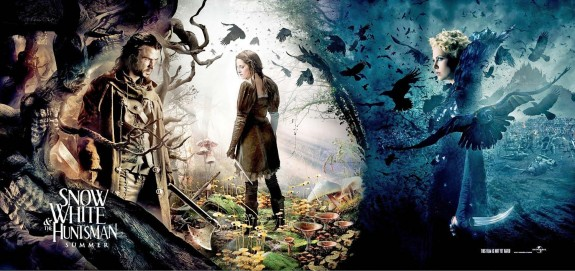 snow white and the huntsman rare promo banner one sheet movie poster hot sexy Charlize Theron chris hemsworth sam claflin kristen stewart