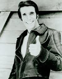 henry winkler rare fonzie 1970s press promo still photo black and white hot sexy ehhhhhhhh marion ross