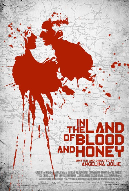 in_the_land_of_blood_and_honey rare teaser one sheet movie poster angelina jolie hot sexy rare promo poster hot damn bosnian war