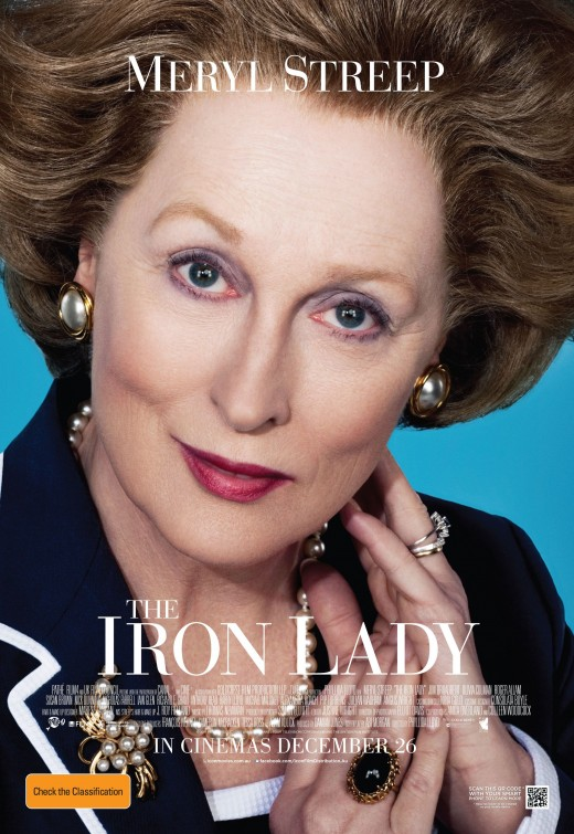 meryl streep in the iron lady rare promo movie poster one sheet teaser hot margaret thatcher
