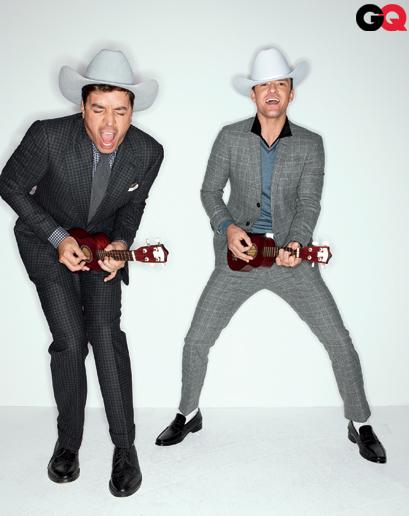 justin-timberlake-jimmy-fallon rare hot sexy funny cowboy magazine gq december 2011 photo shoot