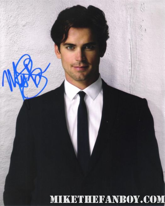 matt-bomer-hand signed autograph photo rare sexy hot white collar star mike the fanboy rare promo suit tie
