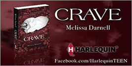 Crave by Melissa Darnell rare novel book review cover art promo hot vampire sexy rare