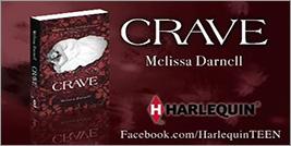Crave by Melissa Darnell rare novel book review cover art promo hot vampire sexy rare