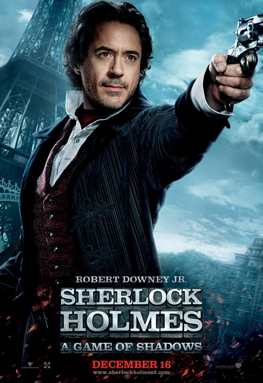 sherlock_holmes_a_game_of_shadows robert downey jr. sherlock individual character poster hot sexy iron man promo action poster