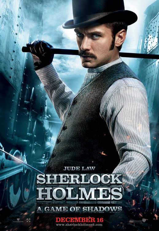 sherlock_holmes_a_game_of_shadows jude law individual promo action movie poster promo hot sexy rare watson poster