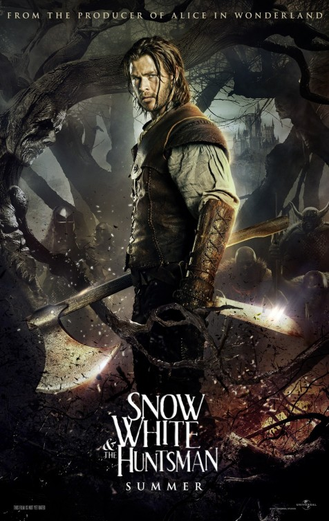 snow_white_and_the_huntsman chris hemsworth rare thor hot and sexy individual promo poster summer snow white huntsman teaser poster blonde sexy hot rare