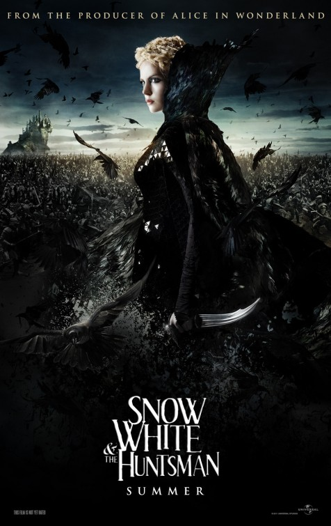 snow_white_and_the_huntsman charlize theron hot sexy evil queen individual promo poster rare sexy hot promo damn