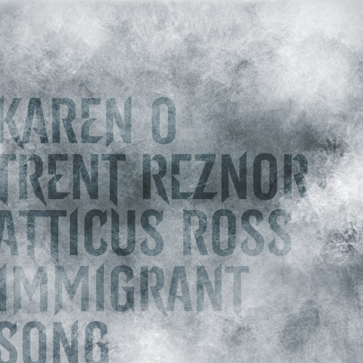 Karen O with Trent Reznor and Atticus Ross – Immigrant Song rare cd single promo artwork cover rare  yeah yeah yeahs
