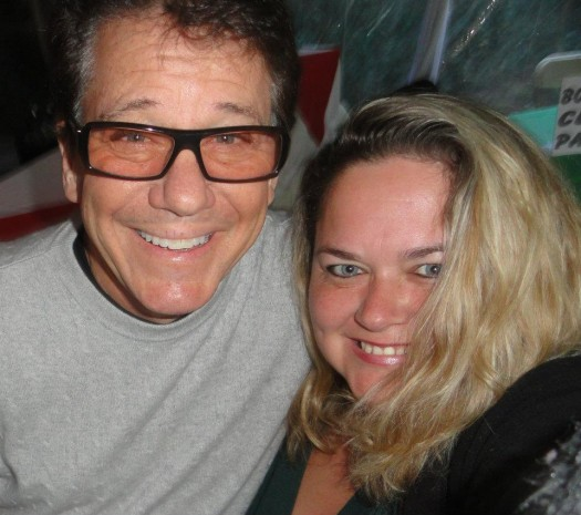 pretty in pinky with happy days star anson williams potsie in 2011 rare now