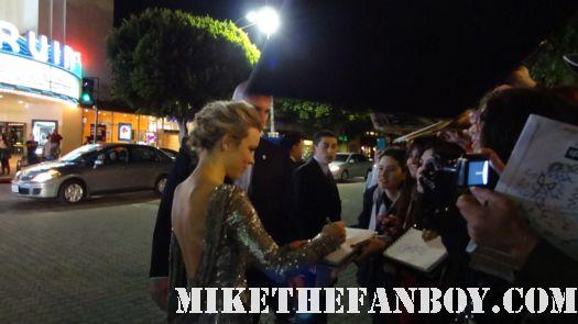 rachel mcadams signing autographs for fans at sherlock holmes a game of shadows world movie premiere with robert downey jr jared harris rachel mcadams