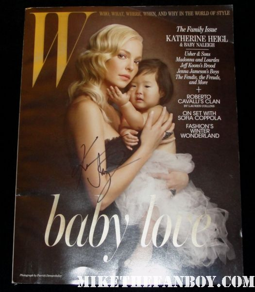 katherine heigl signed autograph w magazine cover hot sexy new years eve
