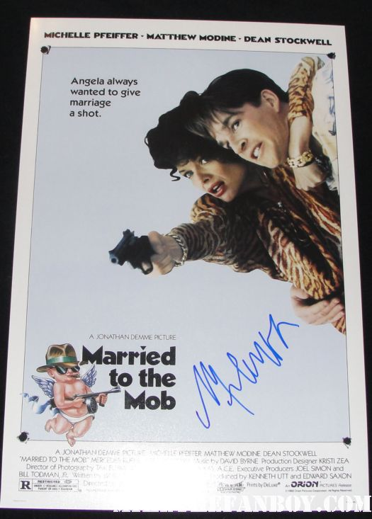 michele pfeiffer signed autograph married to the mob rare mini poster promo hot sexy