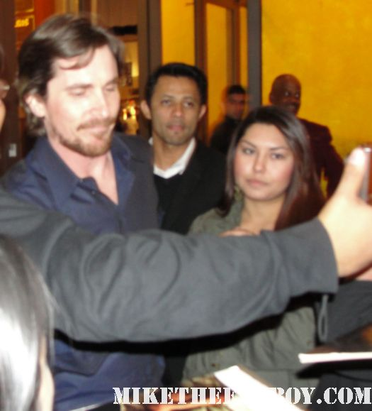 christian bale looking sexy and hot taking photos and signing autographs with fans at the sherman oaks arclight