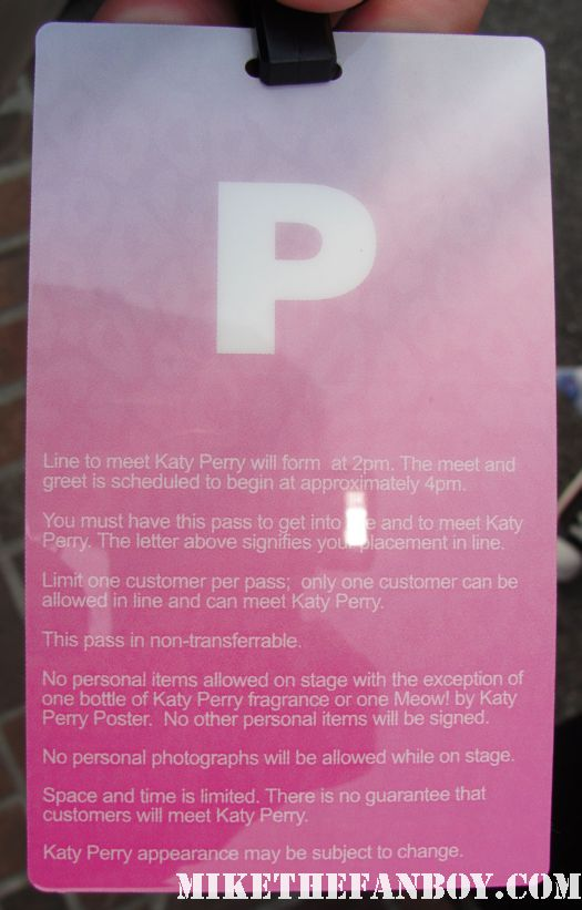katy perry laminate for meow perfume autograph signing at the grove nordstroms rare promo