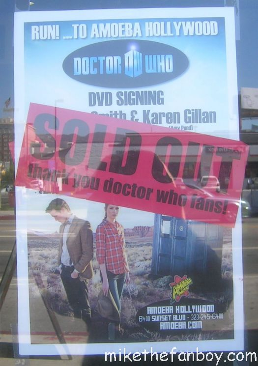 amoeba music hollywood dr. who dvd signing with Matt Smith and Karen Gillian dr. who and  his partner in crime bbc