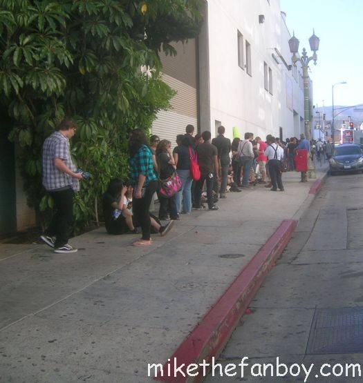 the line waiting to get in to theamoeba music hollywood dr. who dvd signing with Matt Smith and Karen Gillian dr. who and  his partner in crime bbc