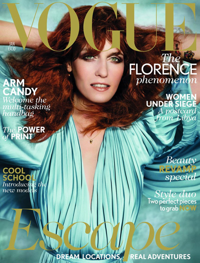 Florence-Welch-Vogue-UK-January-Issue-2012 Florence and the machine vogue magazine 2012 issue magazine cover rare promo florence and the machines florence welch in the january 2012 issue of british vogue magazine hot sexy photoshoot photo shoot