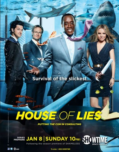 House of lies rare promo poster showtime series kristen bell don cheadle rare promo teaser poster promo cast photo