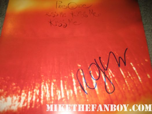 the cure signed autograph kiss me kiss me kiss me promo lp signed by robert smith rare promo the cure