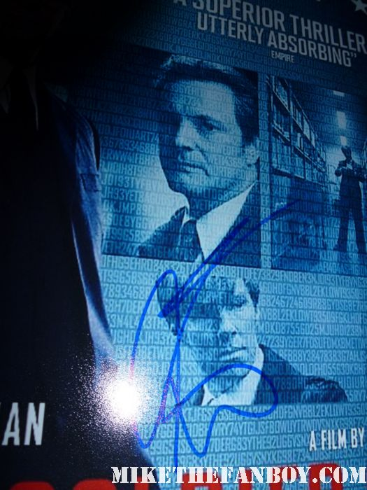 colin firth signing autographs tinker tailor soldier spy movie poster  tinker tailor soldier spy world movie premiere red carpet with mark strong colin firth and gary oldman