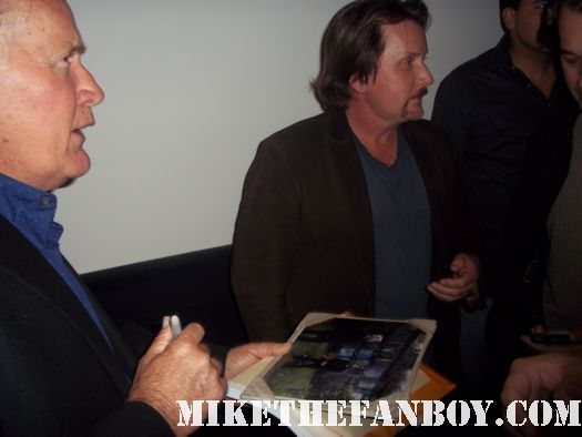martin sheen and emilio estevez make a personal appearance to meet fans and screen The Way their new film at the landmark in los angeles