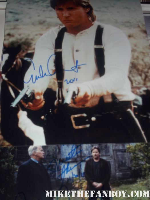 emilio estevez signed autograph young guns photo charlie sheen martin sheen signed autograph rare promo martin sheen and emilio estevez make a personal appearance to meet fans and screen The Way their new film at the landmark in los angeles