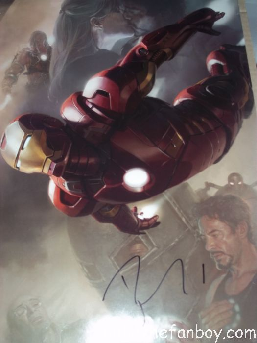 robert downey jr rare comic con promo poster signed autograph pre production promo poster rare iron man hot sexy