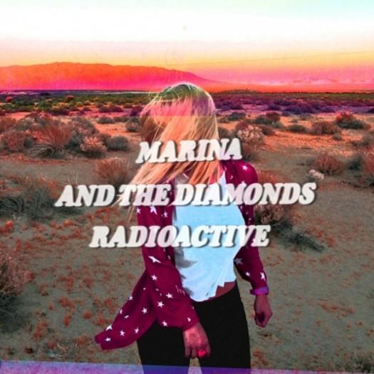 Starsmith-x-Marina-and-the-Diamonds-Radioactive-Starsmith Marina and the Diamonds – Radioactive rare cd single promo cover cd cover promo artwork