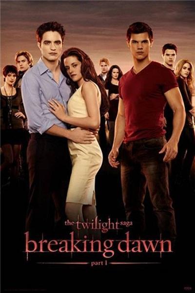 Twilight-Breaking-Dawn-Part-1-movie-poster-August-2011 rare promo robert pattinson kristen stewart taylor lautner rare hot sexy promo teaser poster promo