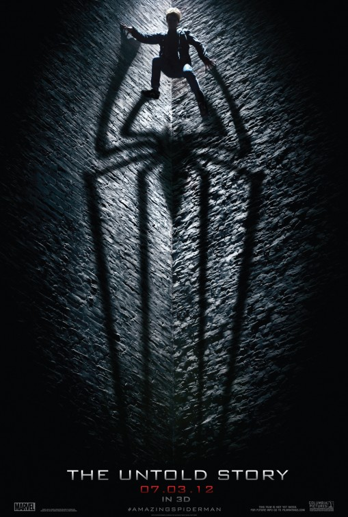the amazing spiderman rare teaser movie poster promo andrew garfield hot sexy peter parker shadow teaser promo poster