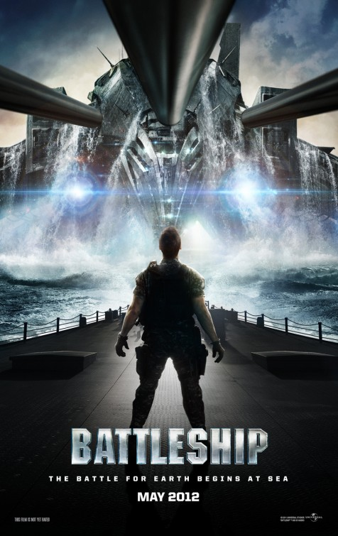 battleship teaser movie poster image rare alexander skarsgard taylor kitsch rare promo poster hot sexy mattel transformers