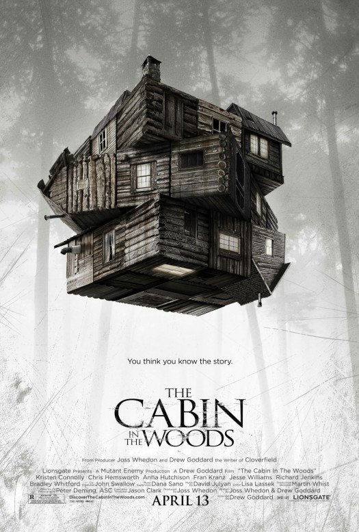 cabin in the woods rare 2011 one sheet movie poster promo cabin_in_the_woods rare one sheet movie poster promo joss whedon chris hemsworth amy acker split up tagline
