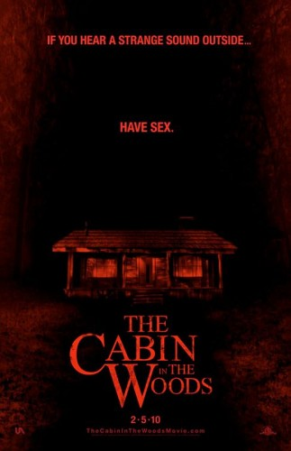 cabin_in_the_woods rare one sheet movie poster promo joss whedon chris hemsworth amy acker have sex tagline