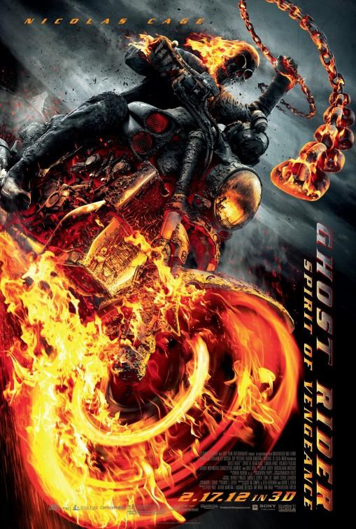 ghost_rider_spirit_of_vengeance rare movie poster promo nicholas cage rare ghost rider 2 poster movie poster promo hot