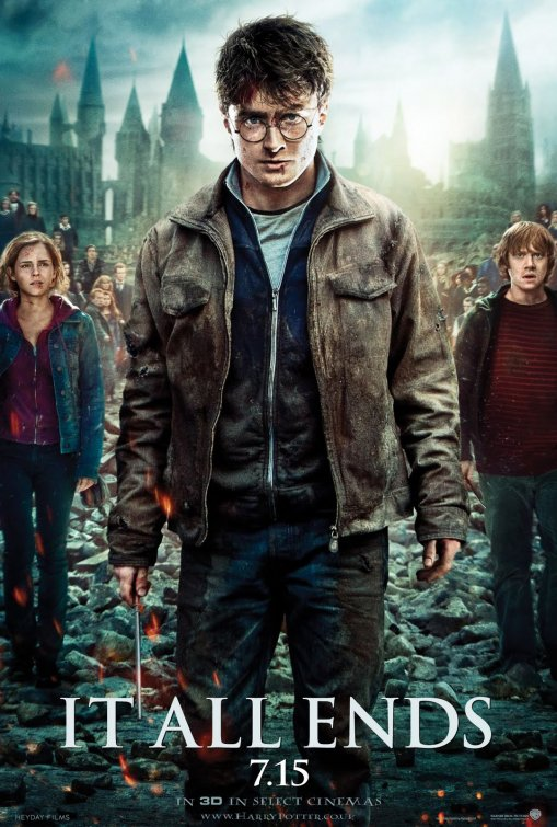 harry_potter_and_the_deathly_hallows_part_two_ver21 harry potter rare promo poster damn fine daniel radcliffe emma watson rupert grint hot rare promo poster art