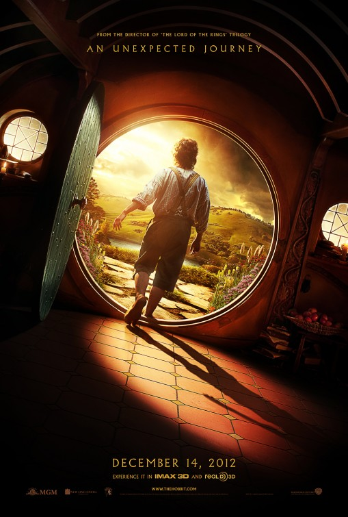 hobbit_an_unexpected_journey rare teaser movie promo poster one sheet movie poster rare promo peter jackson rare