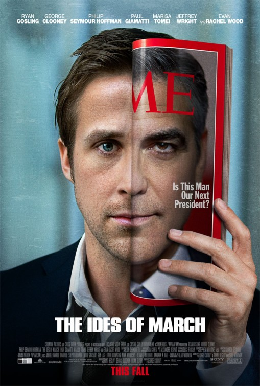 ides_of_march rare promo poster george clooney ryan gosling rare promo poster promo hot sexy men ryan gosling sexy