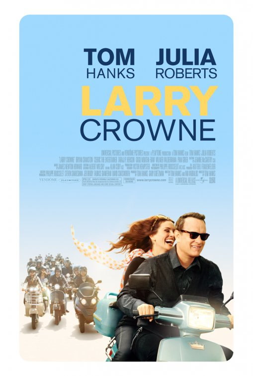 larry_crowne rare teaser movie poster promo julia roberts tom hanks scooter rare promo movie poster promo