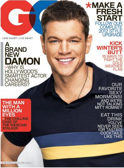 matt-damon-gq-cover january 2012 gq magazine matt-damon rare sexy hot photoshoot for the january issue of GQ magazine rare promo good will hunting bourne supremacy carnival photoshoot photo shoot matt damon