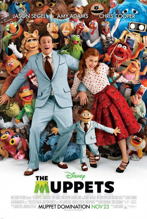 muppets_ver4 the muppets rare promo poster amy adams jason segel hot kermit the frog rare promo poster disney