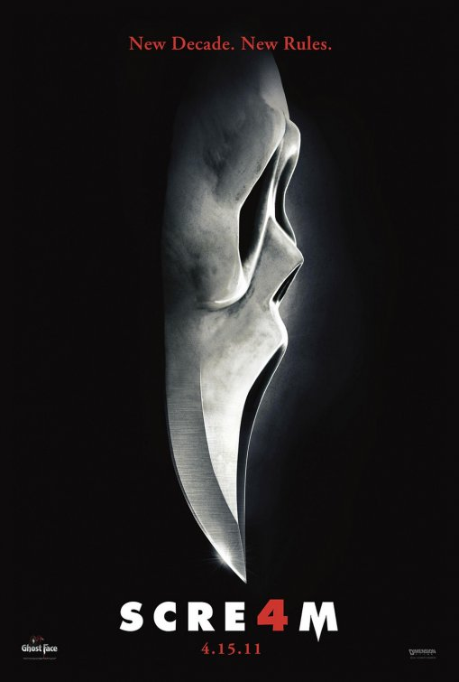 scream_four_ver3 scre4m scream 4 rare promo poster hot sexy courteney cox david arquette neve campbell promo poster knife ghostface